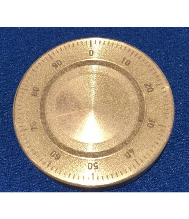 Ronjo Okito Box Lid Combination Dial, Half Dollar