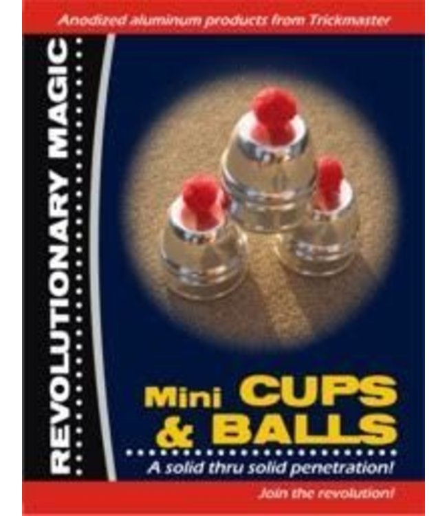 Mini Cups and Balls - Anodized Aluminum by Trickmaster Magic
