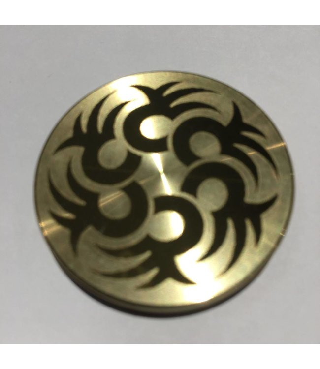 Ronjo Okito Box Lid Tribal Circle 5, Half Dollar