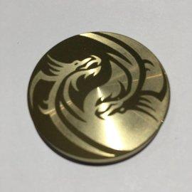 Ronjo Okito Box Lid Yin Yang Dragons, Half Dollar