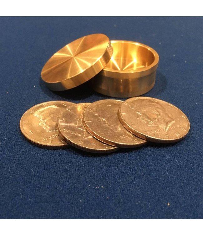 Ronjo Okito Box Boston Half Dollar 4 Coin, Beveled - By Ronjo