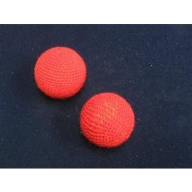 Chop Cup Balls Set, Red -  1 inch by Funtime Magic (M11)
