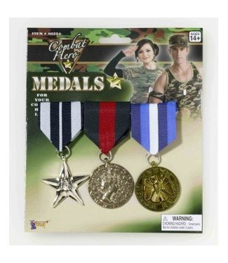 Forum Novelties Military Medals - 3 Set