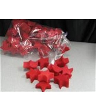 Sponge Stars, Red - 4 Pack by Magic By Gosh