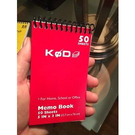 SvenPad® KøD Memo Pad, Single - Red by Brett Barry and Phoenix Mentalist