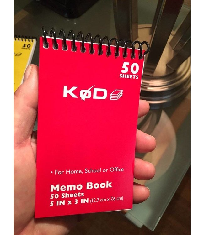 SvenPad® KøD Memo Pad, Single - Red by Brett Barry and Phoenix Mentalist