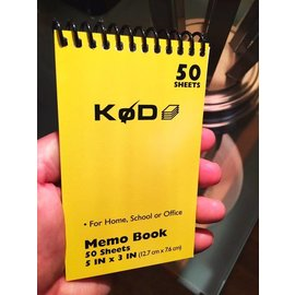 SvenPad® KøD Memo Pad, Single - Yellow by Brett Barry and Phoenix Mentalist