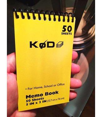 SvenPad® KøD Memo Pad, Single - Yellow by Brett Barry and Phoenix Mentalist