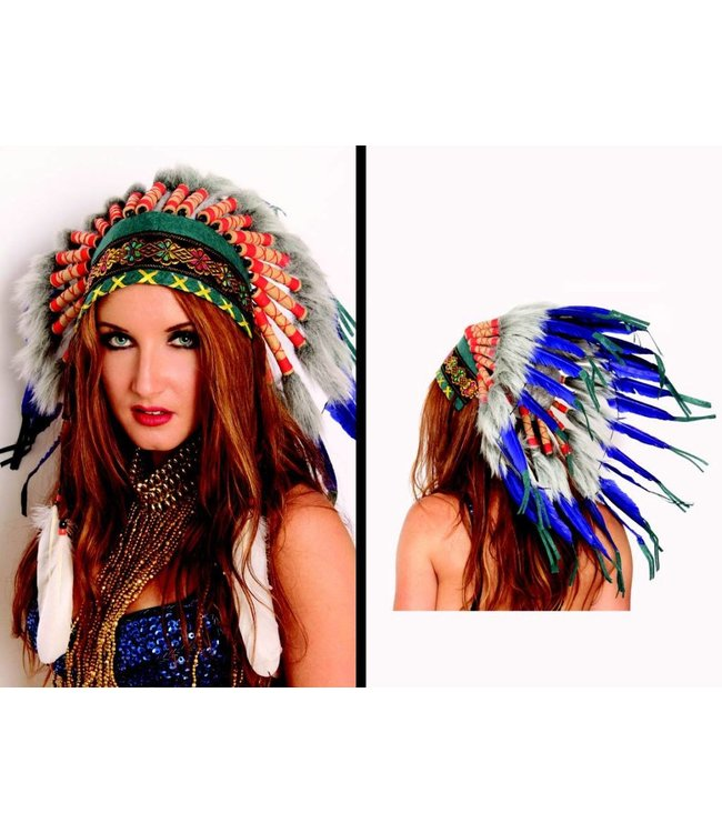 Indian Headdress, Deluxe - Short by Western Fashion Inc.