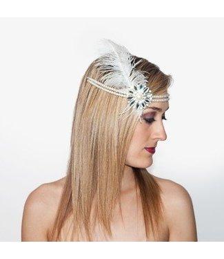 1920s Flapper Headpiece - White