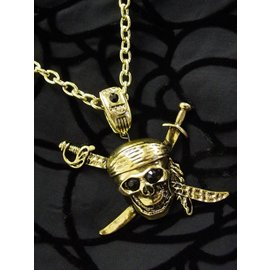 Pirate Skull And Swords Necklace by Flashback And Freedom Inc