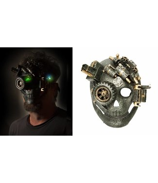 Steampunk Mask Full Face w/LED Lights by Western Fashion Inc.