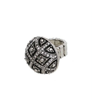 Ring, Antique Round - Stretch by Crystal Avenue