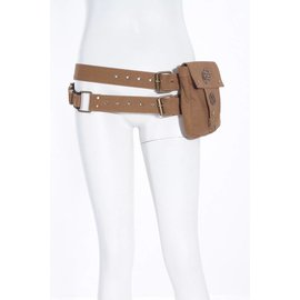Steampunk Bag with Double Belt, Brown by Red Queen's Black Legion