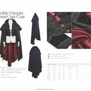 Punk Rave Gothic Vampire Count Cape - Large (/391)