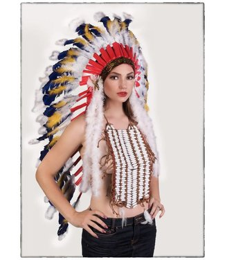 Indian Headdress, Deluxe - Long by Western Fashion Inc.