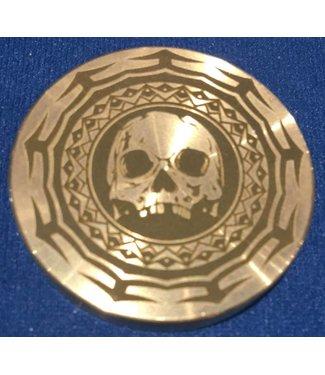 Ronjo Okito Box Lid Tribal Skull, Half Dollar