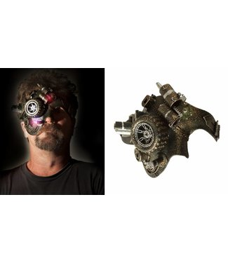 Steampunk Mask Half Face w/LED Lights by Western Fashion Inc.