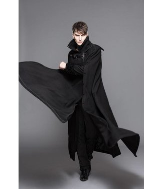 Gothic Trench Coat w/Side Cape, Adult - XL by Devil Fashion (/391)