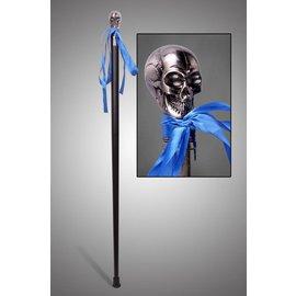 China Walking Cane Skull Silver