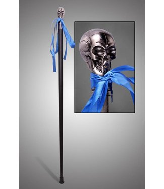 Walking Cane Skull Silver
