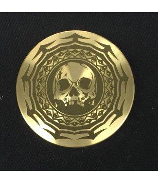 Ronjo Okito Box Lid Tribal Skull, Silver Dollar