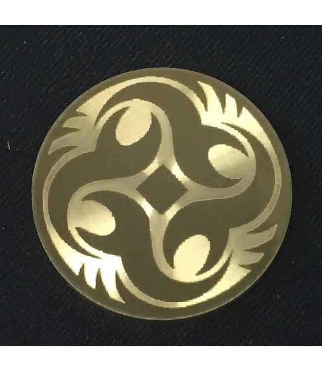 Ronjo Okito Box Lid Tribal Circle 3, Silver Dollar