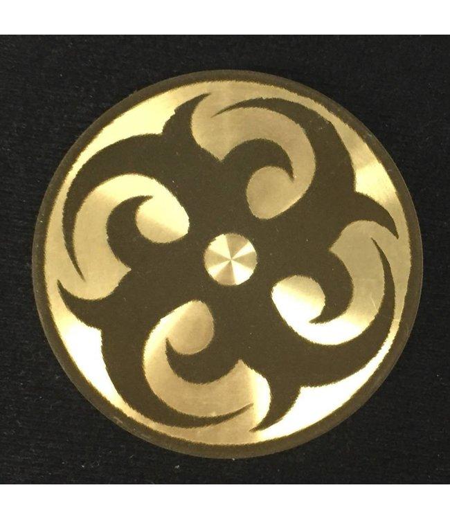 Ronjo Okito Box Lid Tribal Circle 2, Silver Dollar