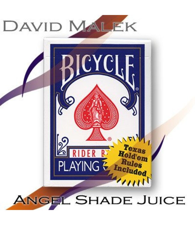 Marked Deck (Blue Bicycle Style- Angel Shade Juice) by David Malek - Trick