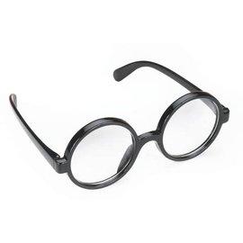 Black Frame Round Glasses by Loftus International