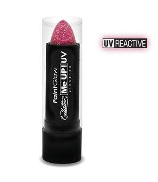 PaintGlow Champagne Pink Neon Uv Glitter Lipstick 5G