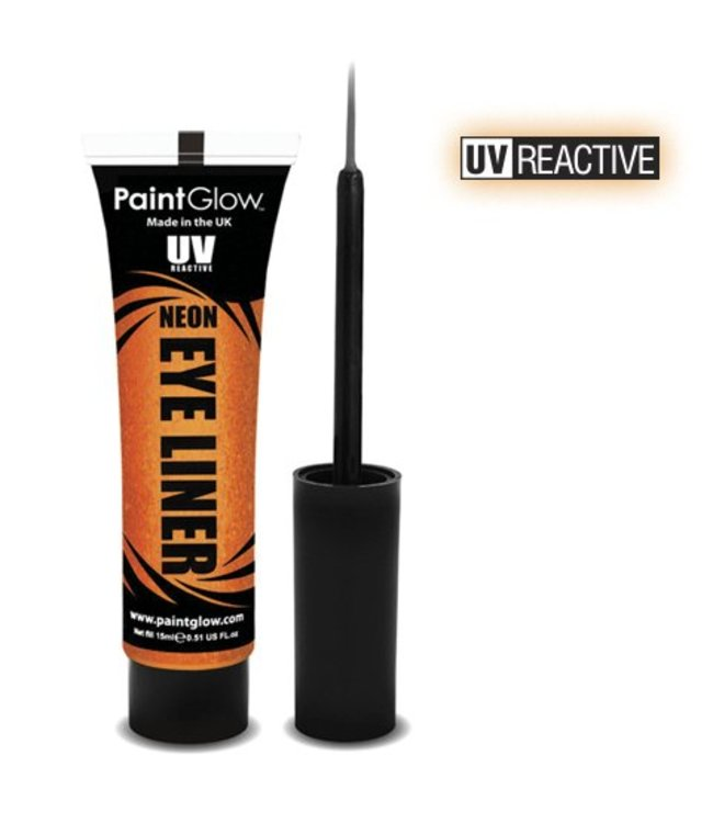 PaintGlow Orange Neon UV Eye Liner 15Ml
