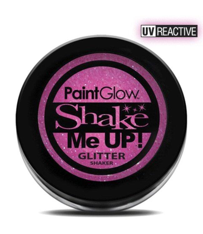 PaintGlow Candy Pink Neon UV Glitter Shaker