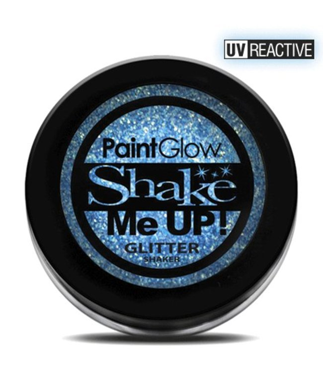 PaintGlow Ice Blue Neon UV Glitter Shaker