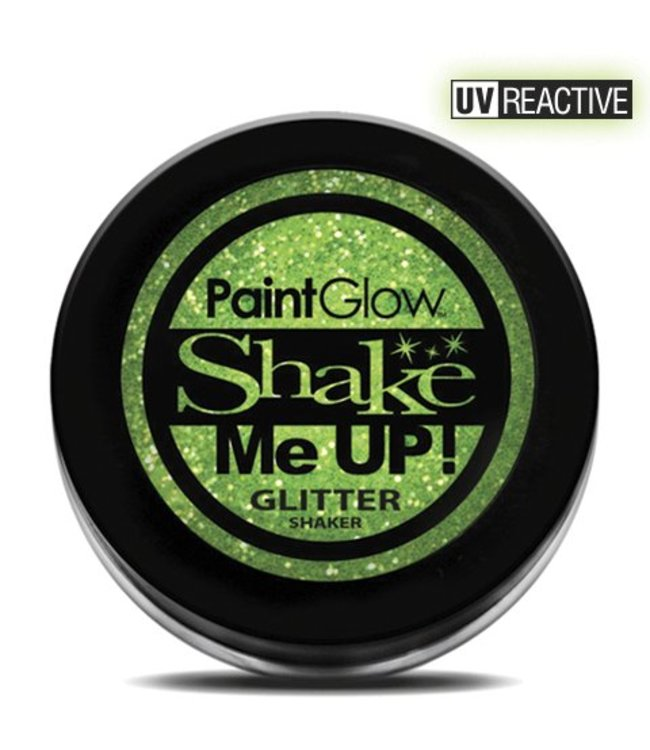 PaintGlow Mint Green Neon UV Glitter Shaker