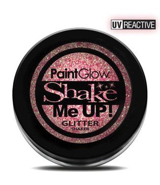 PaintGlow Champagne Pink Neon UV Glitter Shaker
