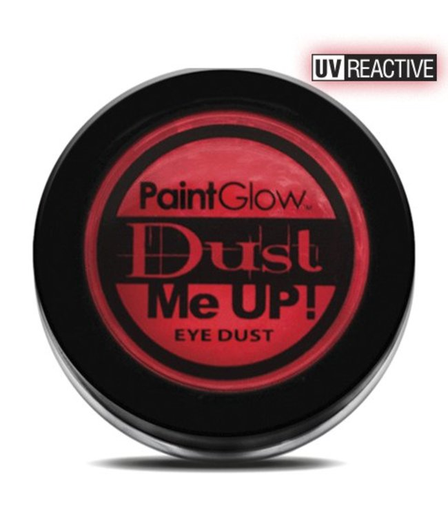 PaintGlow Red Neon UV Eye Duster 5G