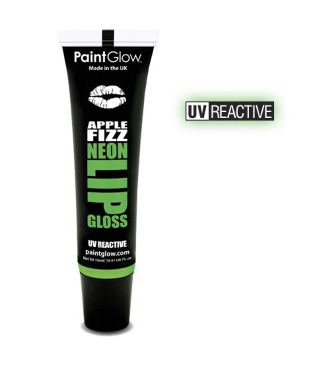 PaintGlow Apple Fizz Neon UV Lipgloss 15Ml