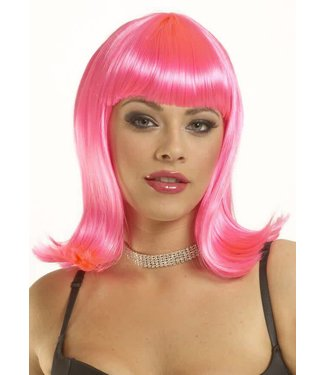 Costume Culture by Franco American Peggy Sue Wig - Neon Pink