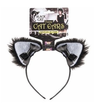 Forum Novelties Black Furry Cat Ears