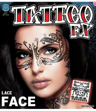 Tinsley Transfers Lace Face Tattoo
