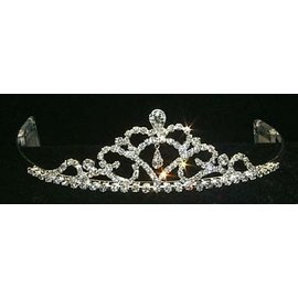 Fine Pear Drop Tiara 1.5 inch tall Rhinestone Jewelry Corporatrion