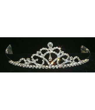 Fine Pear Drop Tiara 1.5 inch tall Rhinestone Jewelry Corporatrion