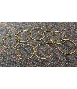 """Vintage 5"""" Gold Plated Linking Rings by S.S. Adams and Sasco Magic"""