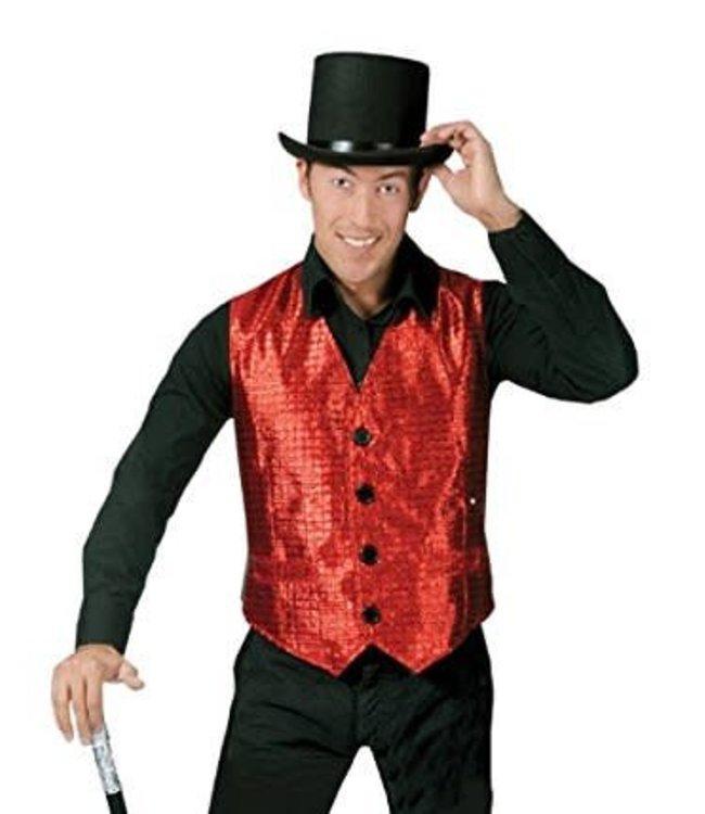 Funny Fashion Show Biz Vest Red - Medium