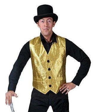Funny Fashion Show Biz Vest Gold- Medium