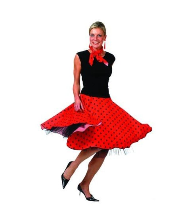 Funny Fashion Rock 'N Roll Skirt - Red