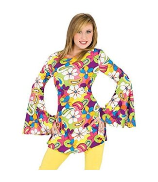Funny Fashion Flower Power Hippie - Medium
