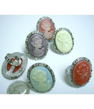 Ring, Pastel Cameo (Assorted)