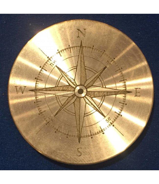 Ronjo Okito Box Lid Compass 3, Silver Dollar